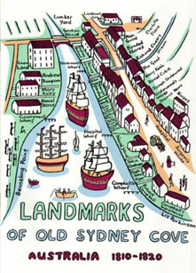 Landmarks of Old Sydney Cove © Liz Parkinson